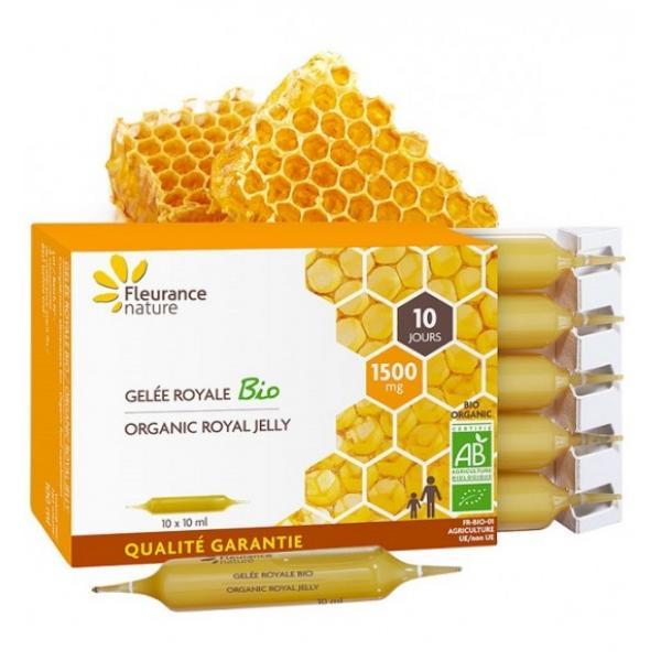 Ampoules de Gelée royale 1500 mg Bio - Fleurance Nature