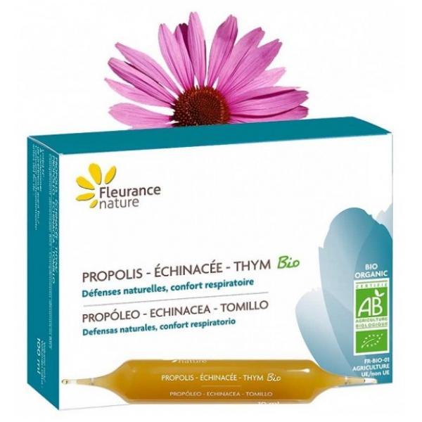 Ampoules de Propolis - Échinacée - Thym Bio - Fleurance Nature