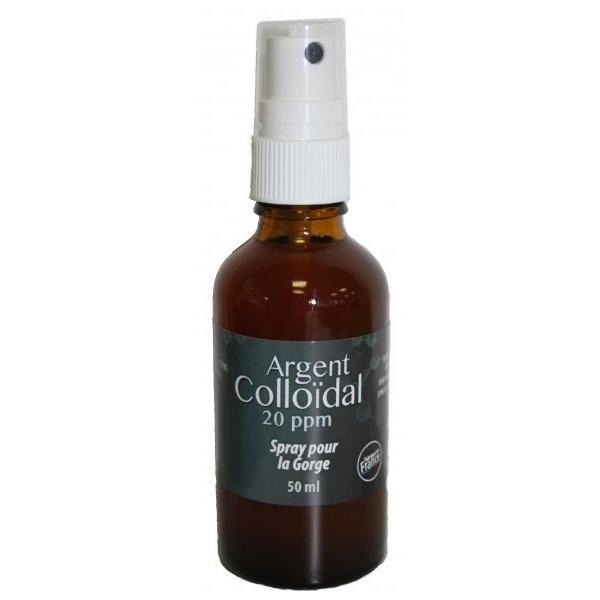 Argent Colloïdal 20ppm en Spray pour la Gorge-Naturwaren Dr Theiss