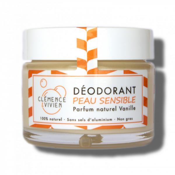 Baume déodorant naturel sans huiles essentielles Vanille - Clémence et Vivien