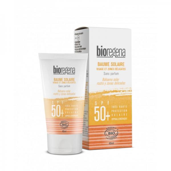 Baume visage et zones délicates solaire bio SPF 50+ - Bioregena