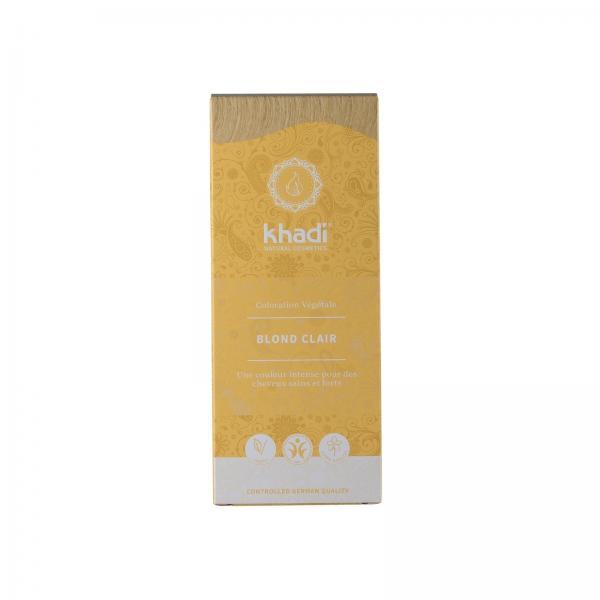 Coloration capillaire végétale blond clair - Khadi