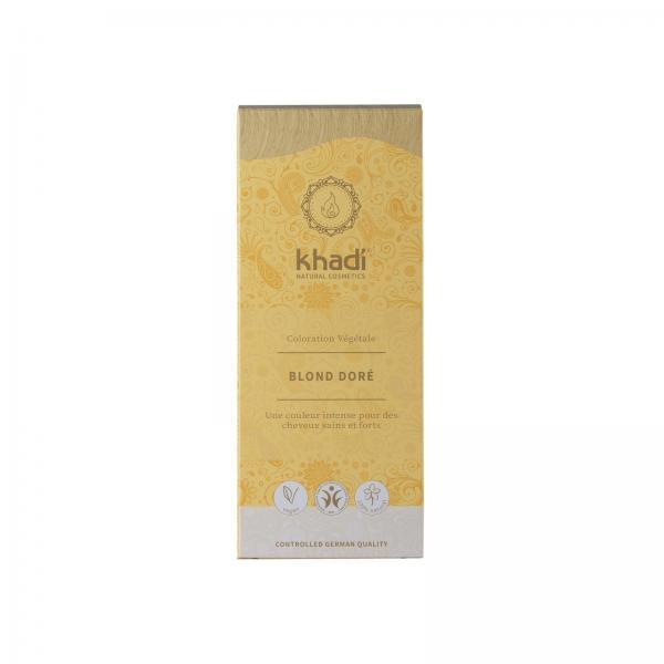Coloration capillaire végétale Blond Doré - Khadi