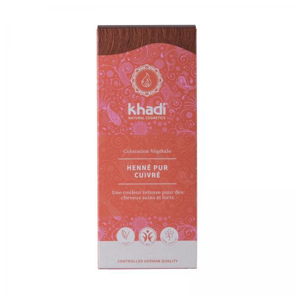 Coloration capillaire végétale henné pur cuivré - Khadi