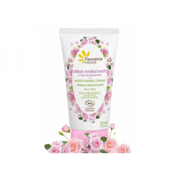 Crème hydratante visage à l'eau florale de rose - Fleurance Nature