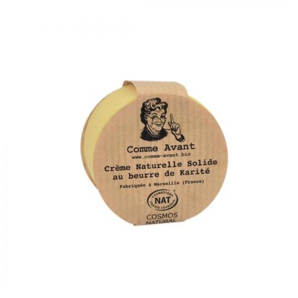 Crème naturelle solide au beurre de karité - Comme Avant