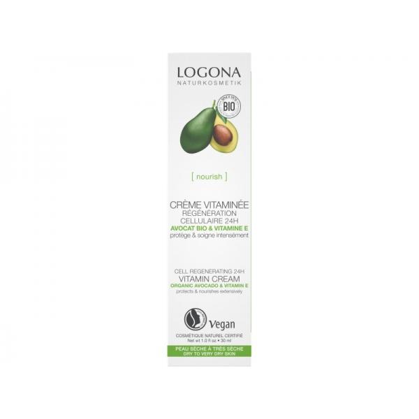 Crème régénération cellulaire avocat et vitamine E Bio - 30 ml - Logona