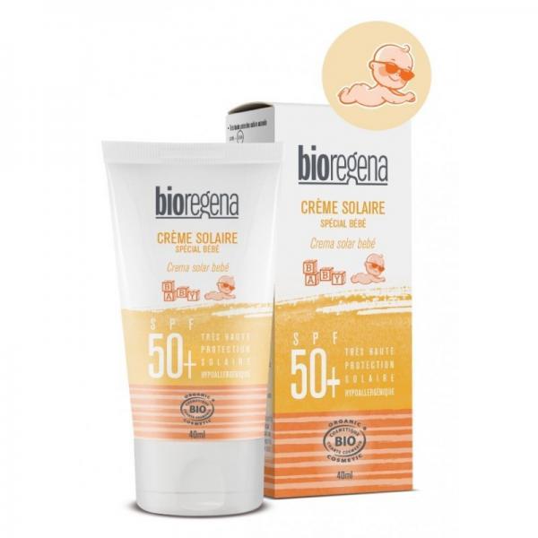 Crème solaire bio spéciale bébé SPF 50+ - Bioregena