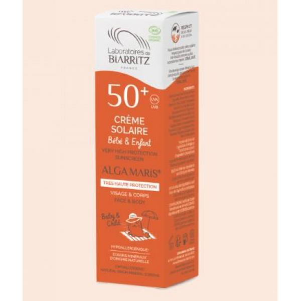 Crème solaire bio SPF50+ Bébés & Enfants - Alga Maris Laboratoires de Biarritz