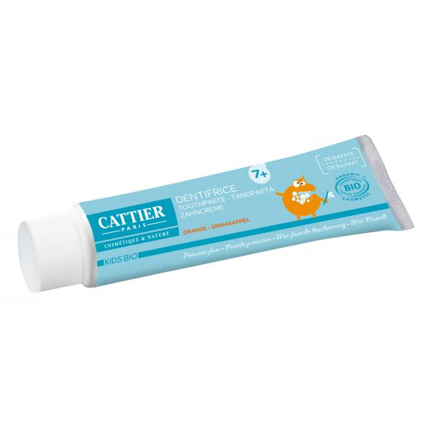Dentifrice 7 ans et + goût orange protection fluor - Cattier