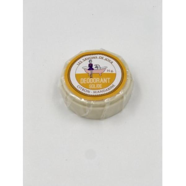 Déodorant boite citron mandarine et sa recharge - Les Savons de Joya