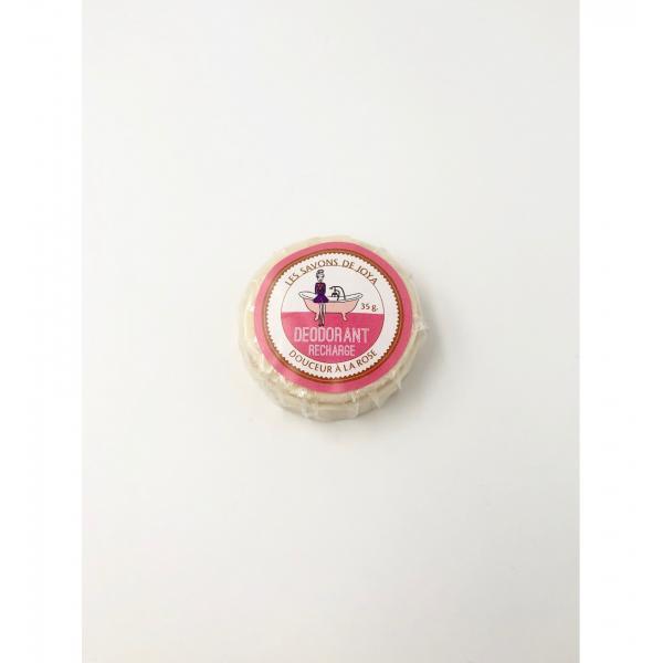 Déodorant boite rose sans bicarbonate et sa recharge - Les Savons de Joya