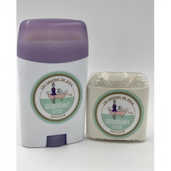 Déodorant stick et sa recharge sans HE ni bicarbonate - Les Savons de Joya