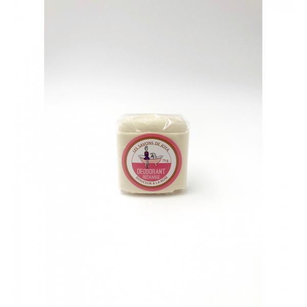 Déodorant stick sans bicarbonate et sa recharge - Rose - Les Savons de Joya
