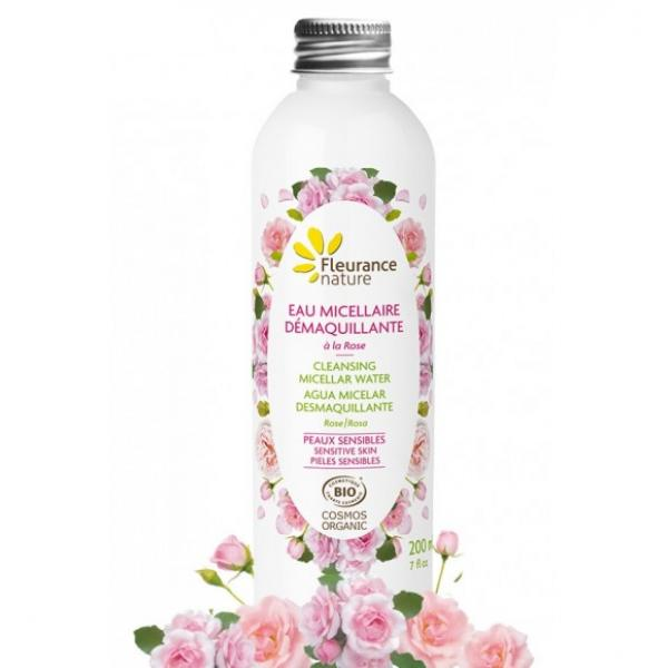Eau micellaire démaquillante à l'eau florale de rose - Fleurance Nature