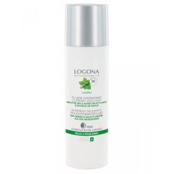 Fluide hydratant clarifiant jour et nuit menthe bio et acide salicylique-Logona