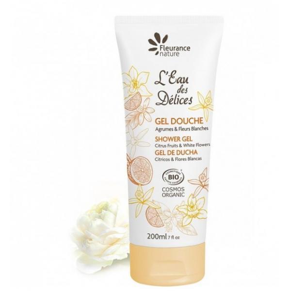 Gel douche l'Eau des Délices Agrumes & Fleurs blanches - Fleurance Nature