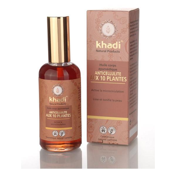 Huile ayurvédique corps Anti-cellulite aux 10 plantes - Khadi