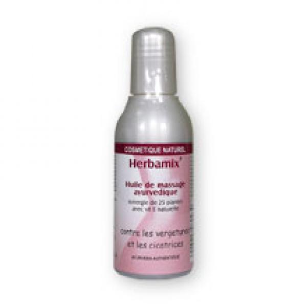 Huile de Massage Ayurvédique Anti-Vergetures et Cicatrices-Herbamix
