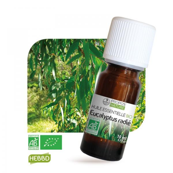 Huile essentielle d'Eucalyptus Radié Bio 100% pure et naturelle-Propos'Nature