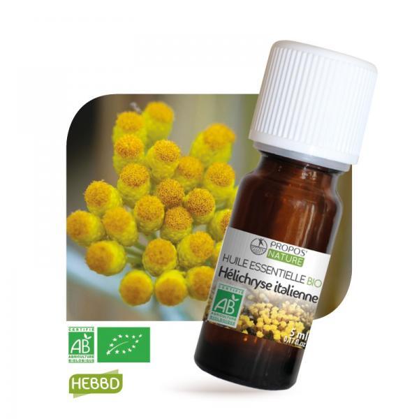 Huile essentielle d'Hélichryse italienne Bio 100%pure et naturelle-Propos'Nature