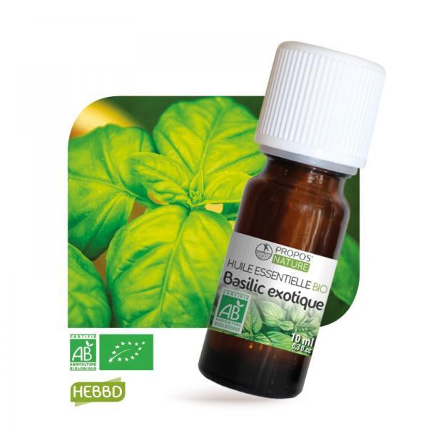 Huile essentielle de Basilic Exotique Bio 100% pure et naturelle-Propos'Nature