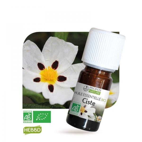 Huile essentielle de Ciste Bio 100% pure et naturelle-Propos'Nature