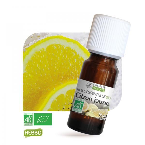 Huile essentielle de Citron Bio 100% pure et naturelle-Propos'Nature