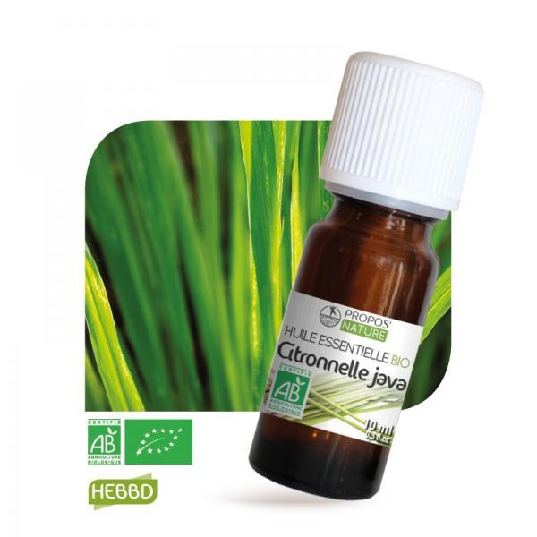 Huile essentielle de Citronnelle Bio 100% pure et naturelle-Propos'Nature