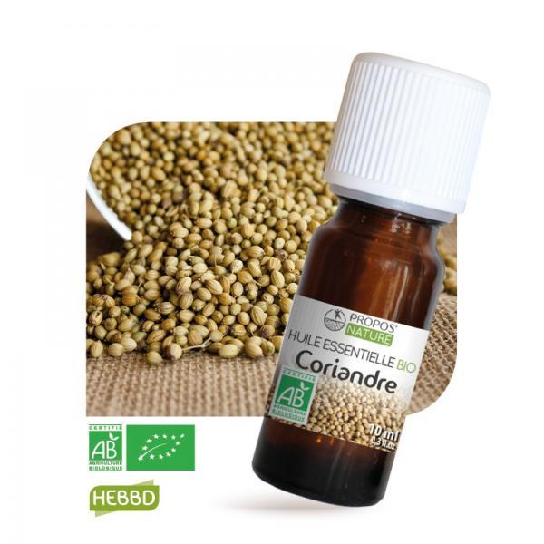 Huile essentielle de Coriandre Bio 100% pure et naturelle-Propos'Nature