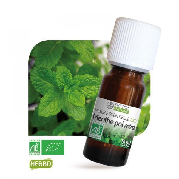 Huile essentielle de Menthe Poivrée Bio 100% pure et naturelle-Propos'Nature