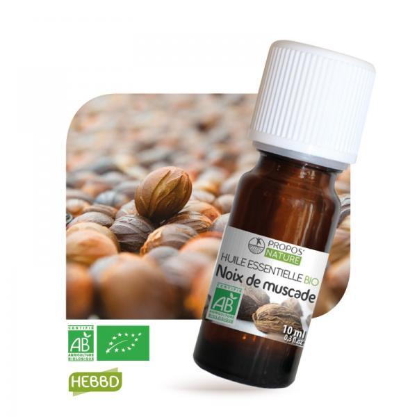 Huile essentielle de Noix de Muscade Bio 100% pure et naturelle-Propos'Nature