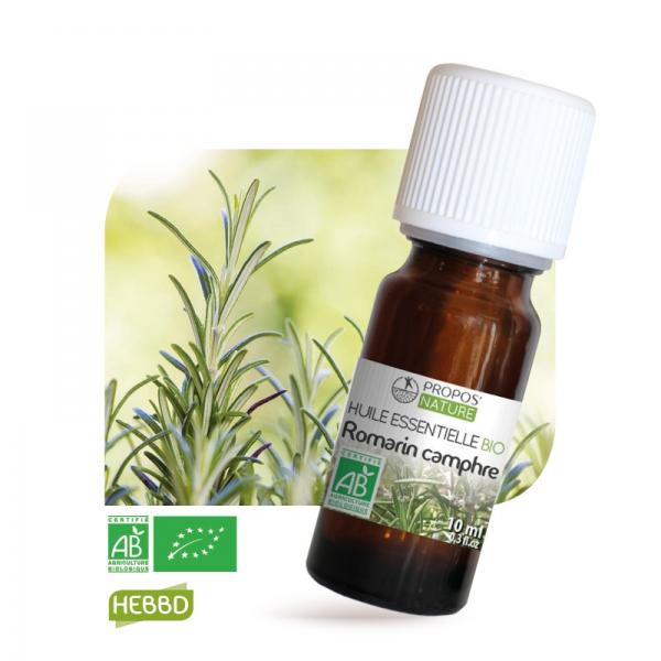 Huile essentielle de Romarin à Camphre Bio 100% pure et naturelle-Propos'Nature