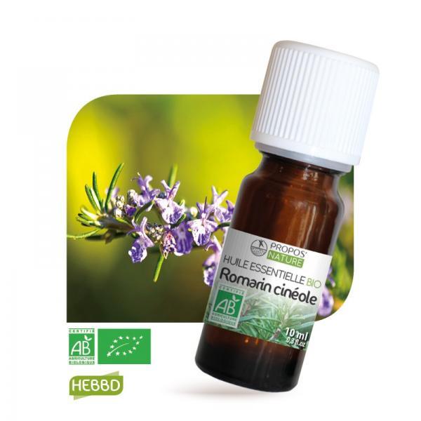 Huile essentielle de Romarin à cinéole Bio 100% pure et naturelle-Propos'Nature