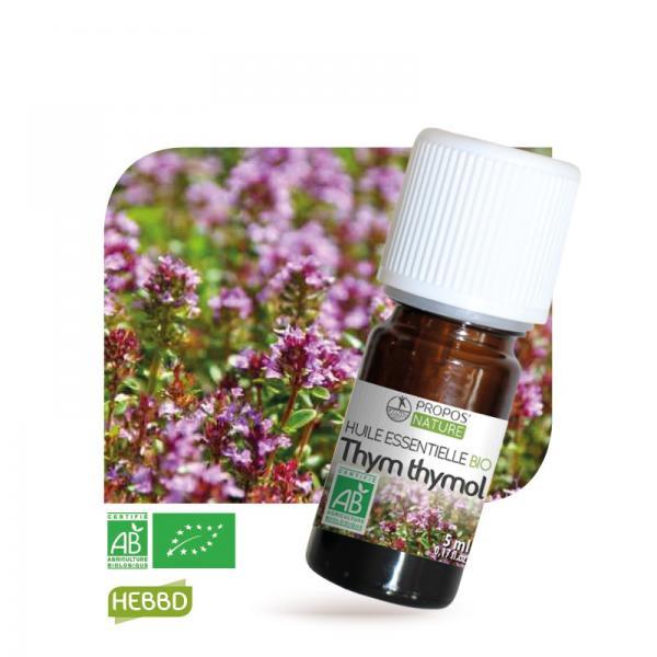 Huile essentielle de Thym à thymol Bio 100% pure et naturelle-Propos'Nature