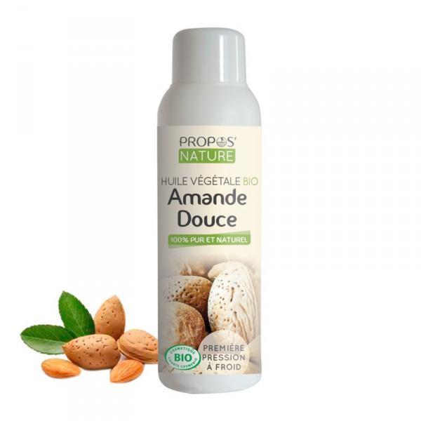 Huile Végétale Amande douce Bio 100% pure et naturelle-Propos'Nature