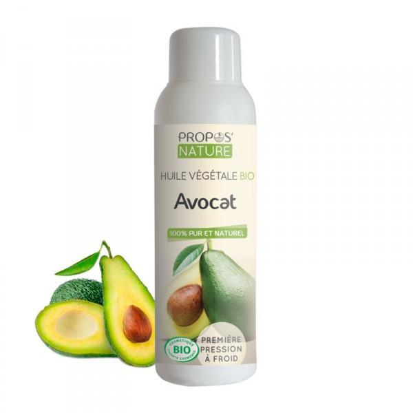 Huile Végétale Avocat Bio 100% pure et naturelle-Propos'Nature