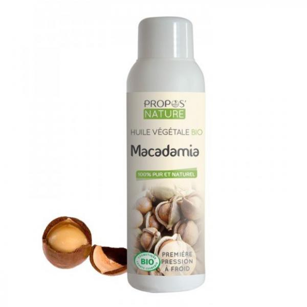 Huile Végétale de Macadamia Bio 100% pure et naturelle-Propos'Nature