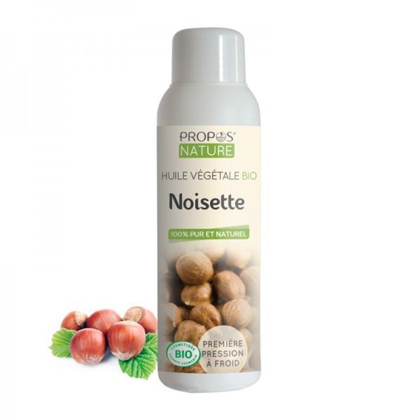 Huile Végétale de Noisette Bio 100% pure et naturelle-Propos'Nature