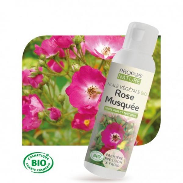 Huile Végétale de Rose musquée Bio 100% pure et naturelle-Propos'Nature