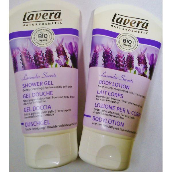 Idée Cadeau Lavande/Aloe Vera : Gel Douche + Lait Corps Lavera