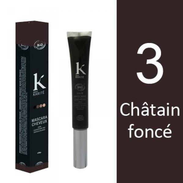 Mascara pour Cheveux n°3 Châtain Foncé-K pour Karité