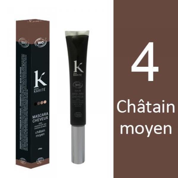 Mascara pour Cheveux n°4 Châtain Moyen-K pour Karité