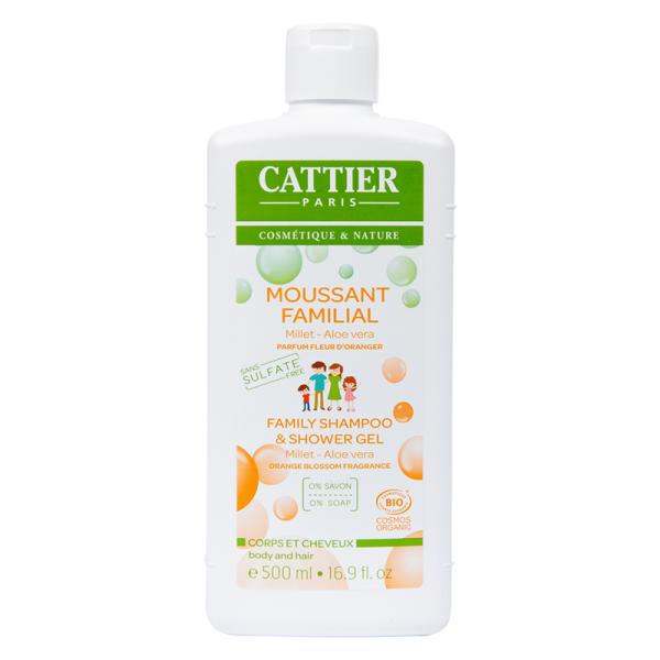 Moussant familial sans sulfates à la fleur d'oranger - Cattier