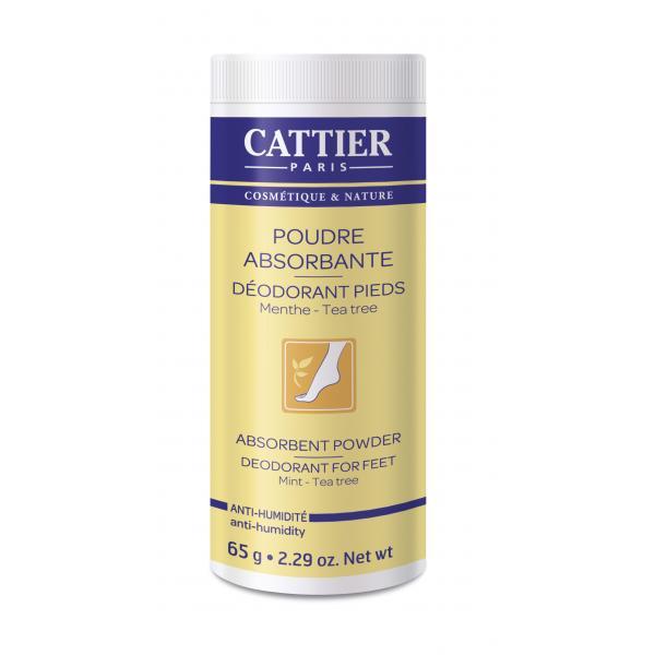 Poudre absorbante déodorant pieds - Cattier