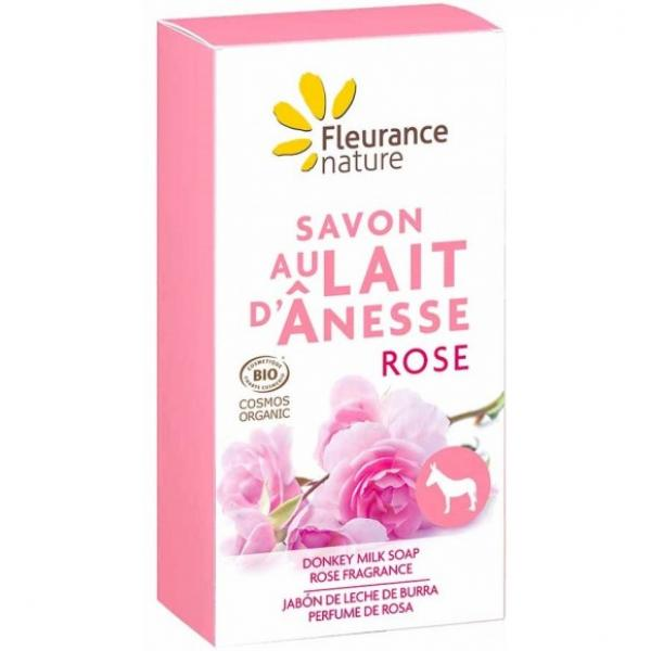 Savon au lait d'ânesse à la Rose - Fleurance Nature