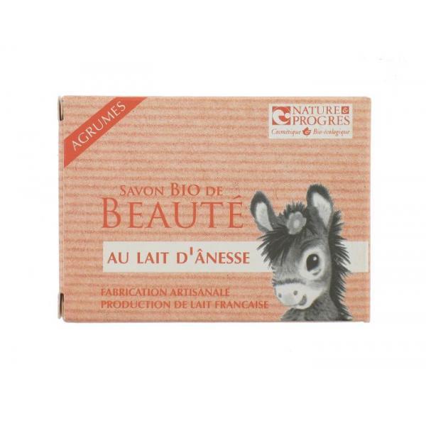 Savon Bio de Beauté Lait d'Anesse-Agrumes-Fabrication artisanale-Cosmo Naturel