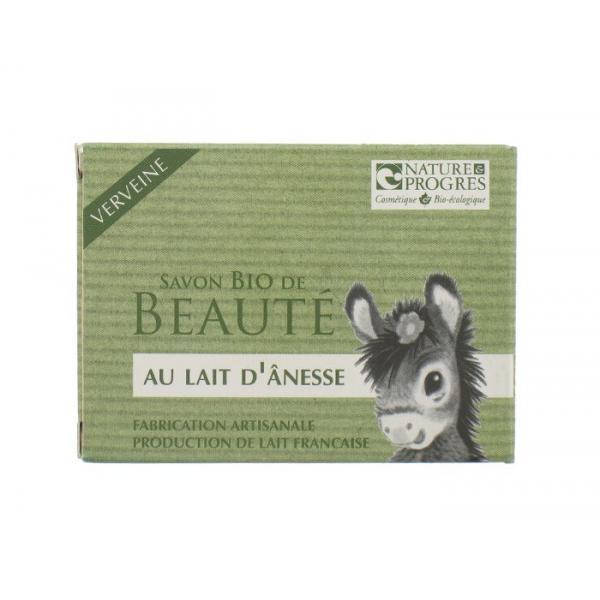 Savon Bio de Beauté Lait d'Anesse-Verveine-Fabrication artisanale-Cosmo Naturel