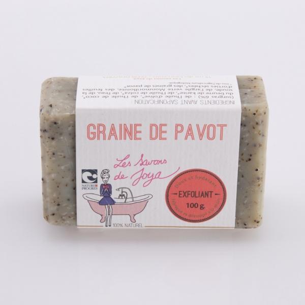 Savon bio Exfoliant graines de Pavot sans huile essentielle-Les Savons de Joya