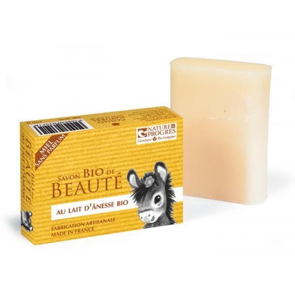 Savon Bio Lait d'Anesse-Miel Sans Parfum Fabrication artisanale-Cosmo Naturel